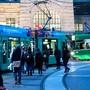Bahnhof SBB Basel Centralbahnplatz. BVB Tram