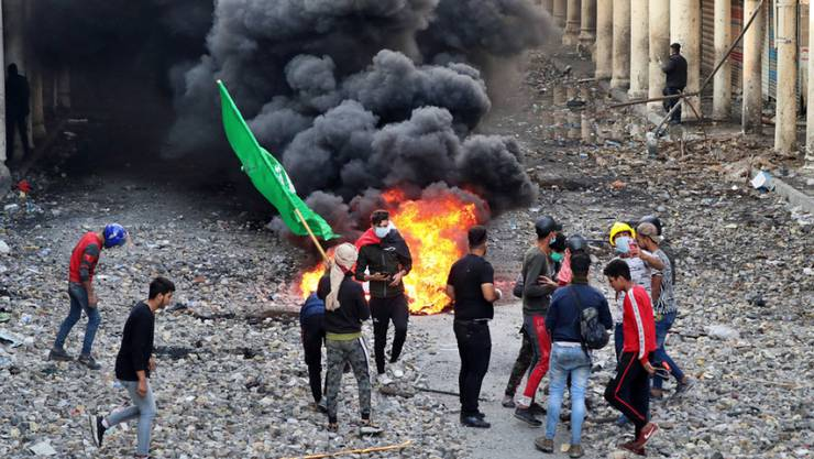 Bei Demonstrationen gegen die Regierung - hier in Bagdad - kamen in den letzten Tagen mindestens 47 Menschen ums Leben. (Archivbild)