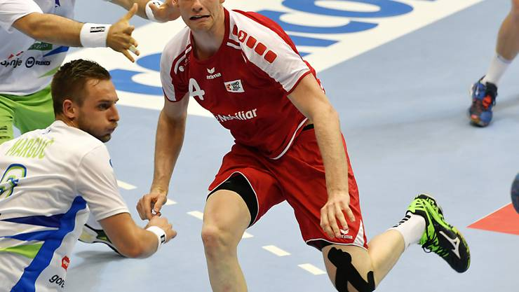Lenny Rubin (rechts) ist ein Schlüsselspieler im aufstrebenden Schweizer Handball-Nationalteam