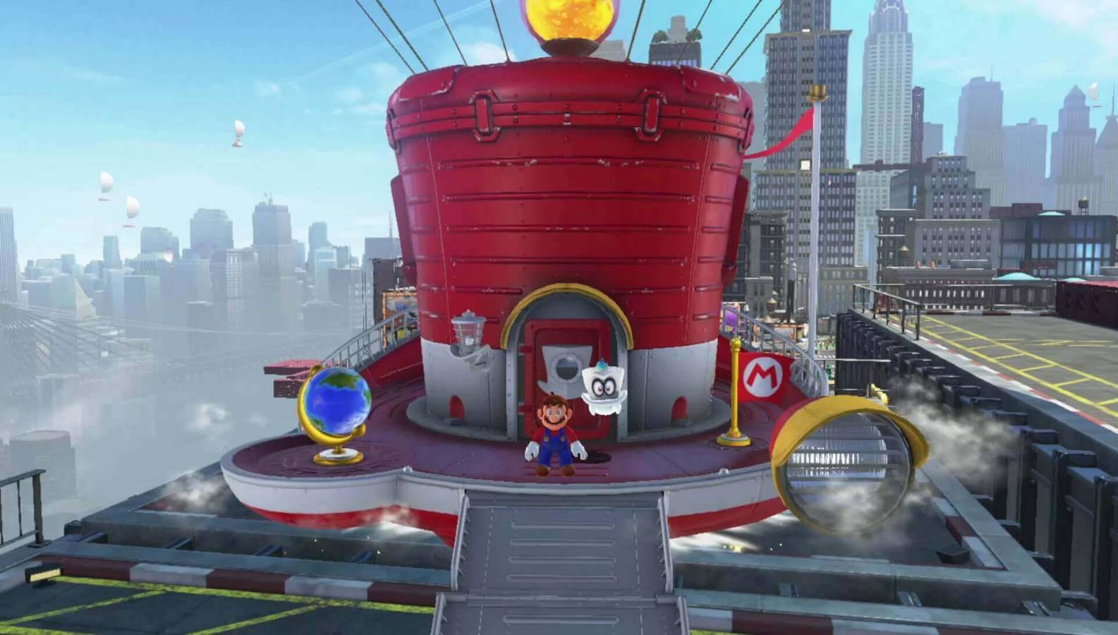 Mario reist sogar in eine Stadt (© Nintendo.com)
