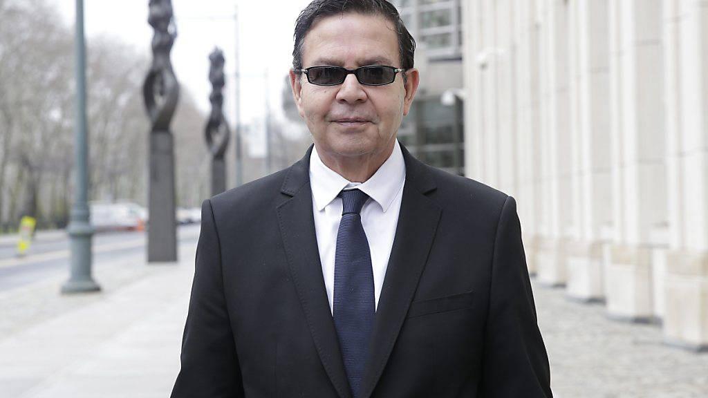 Der verstorbene frühere Präsident von Honduras, Rafael Callejas, nach einer Gerichtsverhandlung im FIFA-Korruptionsprozess in New York.