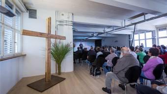 Expansion in Beinwil am See: Am vergangenen Wochenende hat Chrischona ihre neuen Räume in der früheren Halter-Fabrik beim Bahnhof eröffnet.Pascal Meier