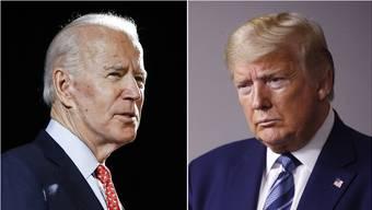 Joe Biden und Donald Trump.