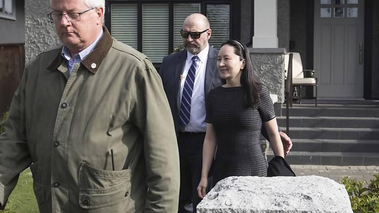 Die Finanzchefin von Huawei Meng Wanzhou am Mittwoch auf dem Weg zum Gericht in Kanada.