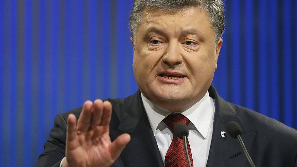 """Poroschenko sieht derzeit keinen Nutzen in Neuwahlen: Ein """"besseres Parlament"""" würde es seiner Ansicht nach nicht geben."""