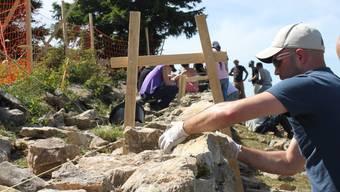 Das Projekt «Mauern bilden Brücken» auf dem Grenchenberg