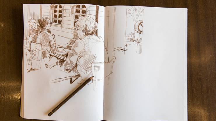 So sieht die Skizze von André Sandmann nach rund 30 Minuten aus.