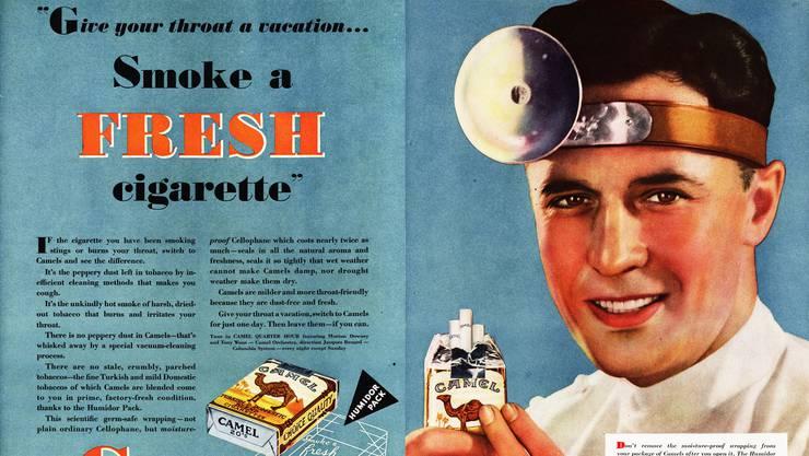 Früher galt Rauchen noch als vornehm. Und scheinbar auch als gesund.