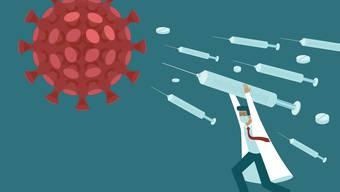 Zahlreiche Firmen und Forscher arbeiten mit Hochdruck an der Entwicklung von Impfstoffen gegen das Coronavirus.