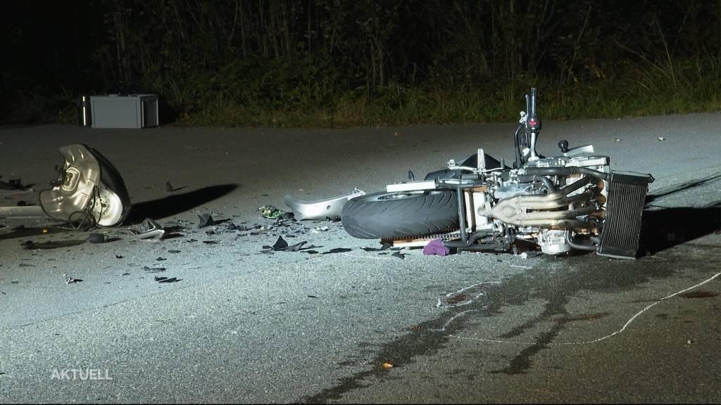 Schwerer Motorradunfall in Küttigen