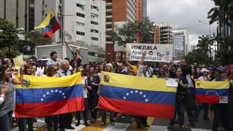 Demonstration gegen Staatschef Nicolás Maduro am Mittwoch in Caracas.