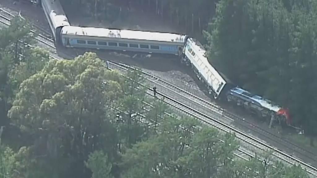 Zwei Tote bei Zugentgleisung nahe Melbourne