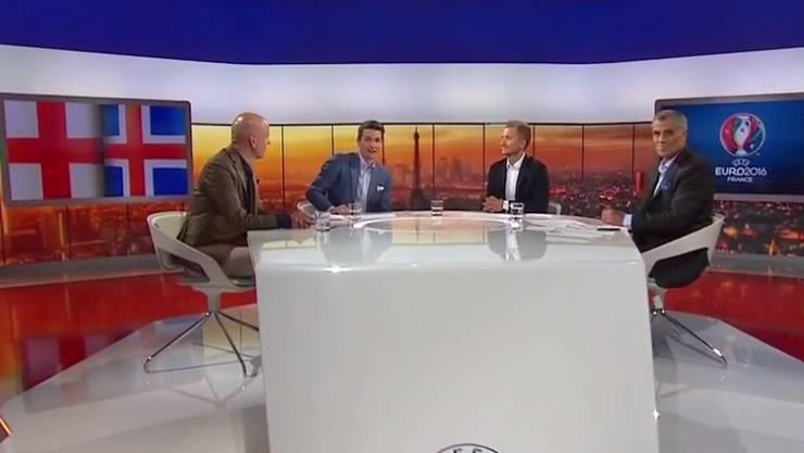 TV-Experten diskutieren im Schweizer Fernsehen über England-Wales