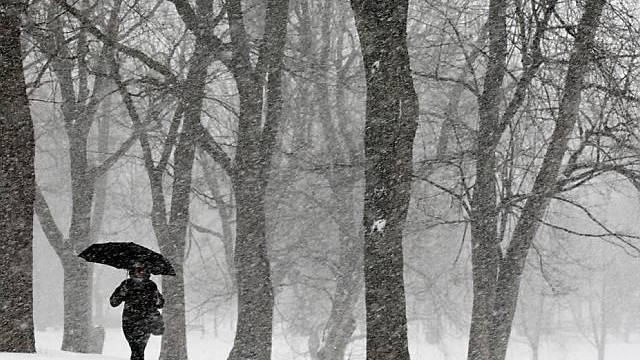 Eisige Kälte und Schnee in Kanada