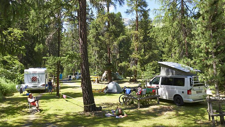 Campingplätze erfreuten sich 2016 grosser Beliebtheit. (Archiv)