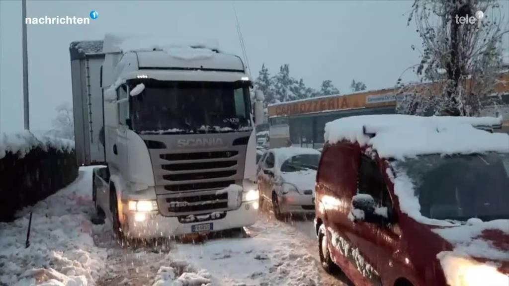 Das Tessin versinkt im Schnee