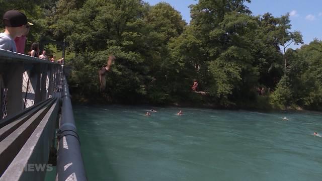 Aareschwimmer nach Schwierigkeiten im Wasser vermisst