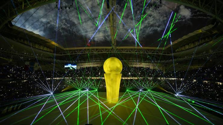 Eröffnungsshow im neuen Al Al Wakrah Stadion in Doha, das 2022 für die WM genutzt werden wird.
