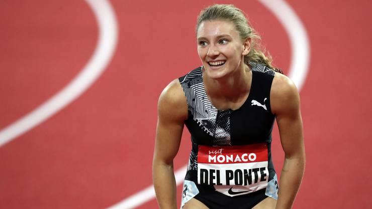 Das Lächeln der neuen Seriensiegerin Ajla Del Ponte.