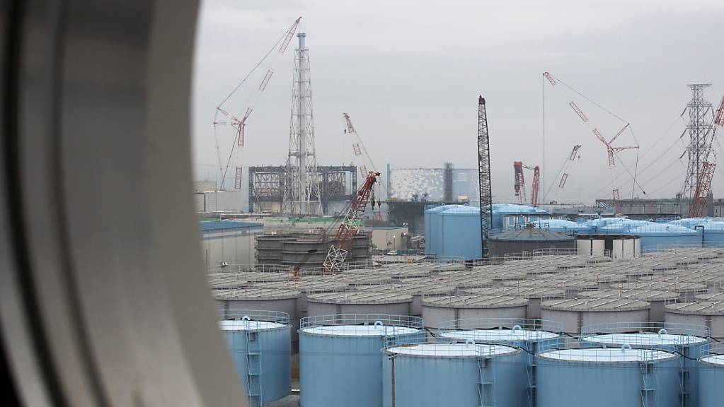 In solchen Wassertanks lagern in Fukushima Millionen von Litern radioaktiv verseuchtes Wasser.