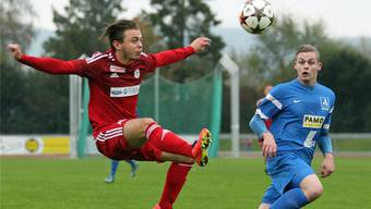 Matteo Muscia (links) hatte am Ende mit Zofingen gegen Marc Grütter und das Team Aargau U21 das Nachsehen.