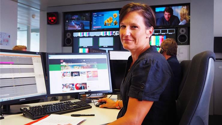 Während der Olympischen Spiele wird SRF-Projektleiterin Natalie Pedrocchi jede Nacht in diesem Raum arbeiten. JGL