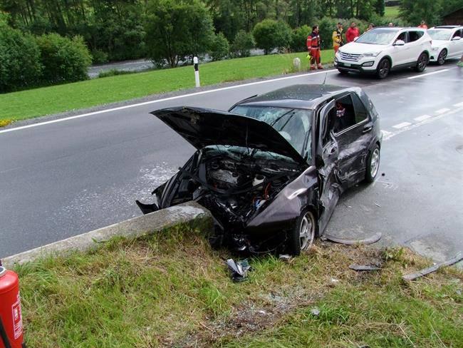 Unfall in Zernez (© Kapo GR)