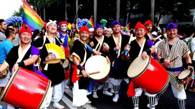 Demonstranten protestieren in Taipeh gegen Diskriminierung