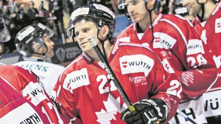 Dion Knelsen nach dem Halbfinal gegen Turku. Bild: Keystone
