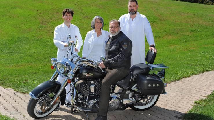 Die KSB-Ärzte Dr. med. Michael Egloff, Dr. med. Manuela Birrer und Dr. med. Daniel Disteldorf (v.l.) betreiben die «Sprechstunde Männergesundheit».