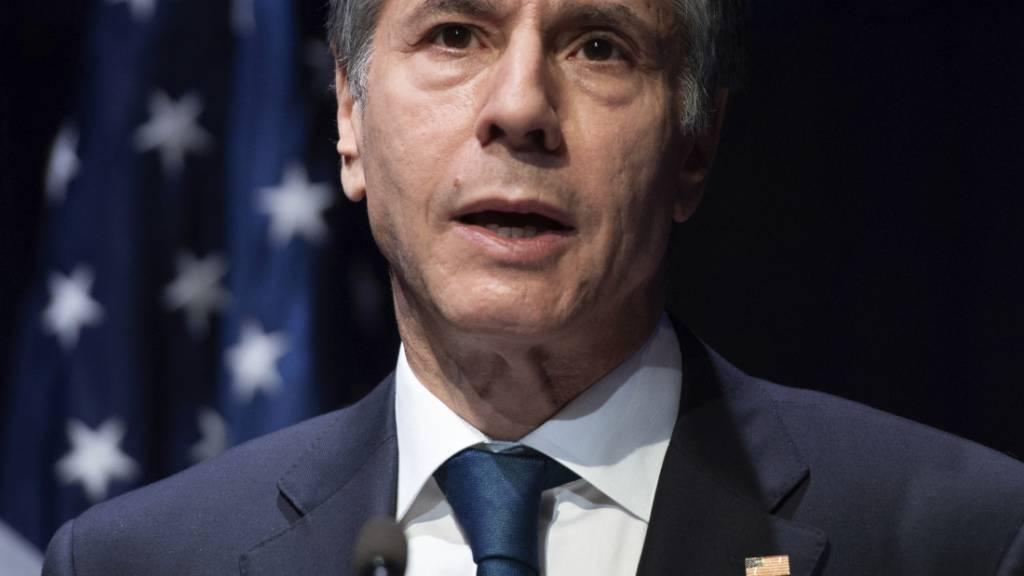 Antony Blinken, Außenminister der USA. Foto: Saul Loeb/Pool AFP/AP/dpa