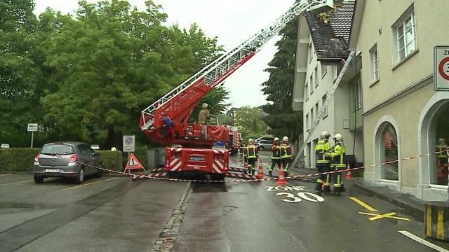 Dachbrand im Hotel Linde in Fislisbach