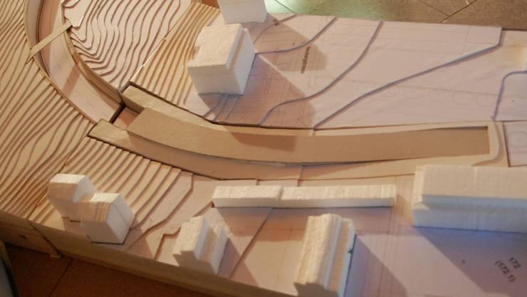 Ein Modell der sich in Planung befindenden Ost-Umfahrung Bad Zurzach (Archiv/Stand 2010)