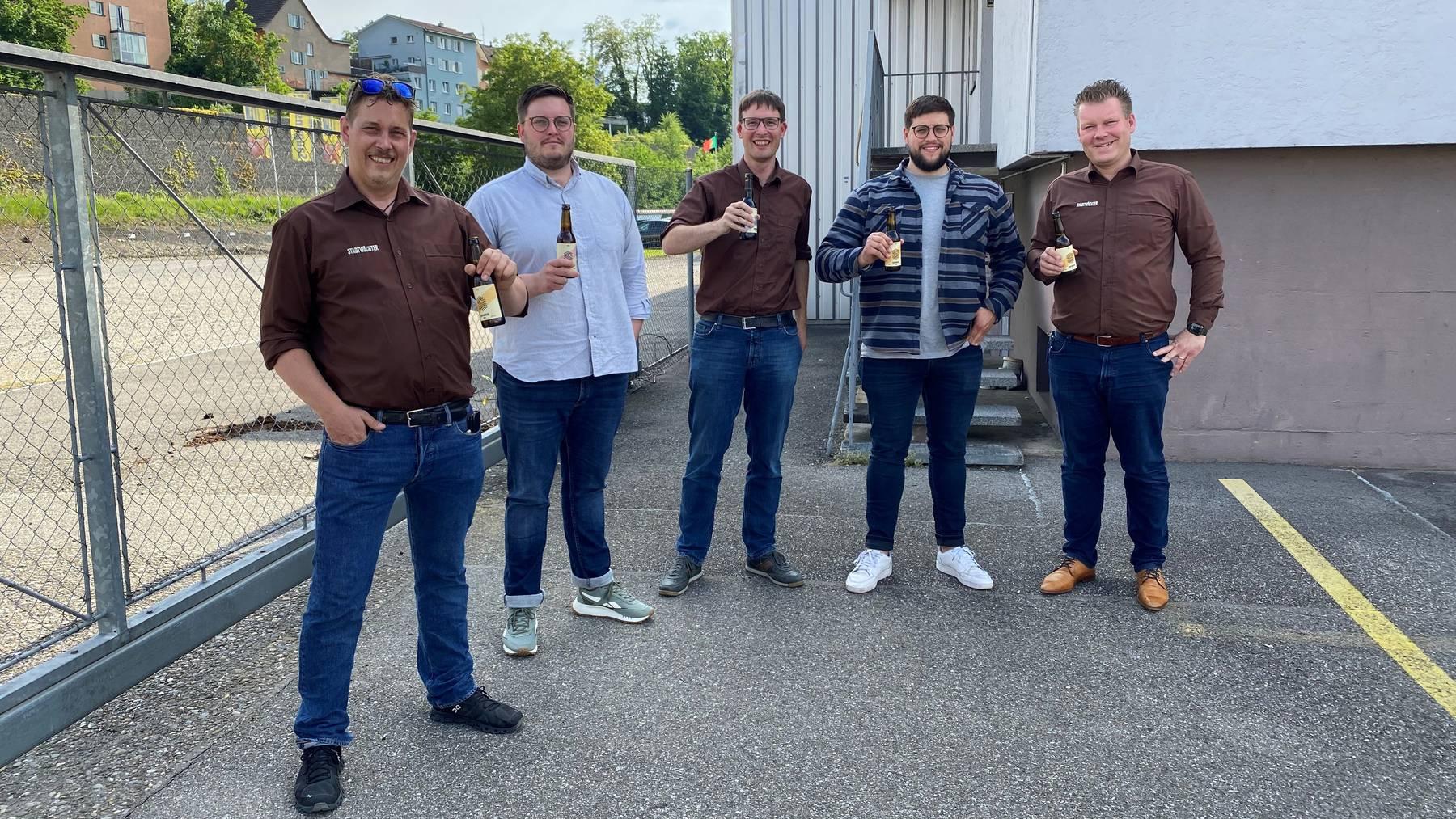 Vertragsunterzeichnung Brauerei Aarau AG