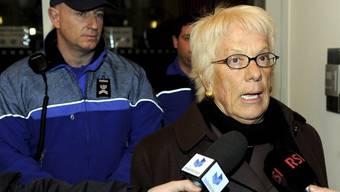 Die ehemalige Tessiner Staatsanwältin Carla del Ponte nach den Anhörungen in Bellinzona