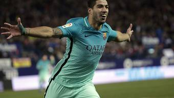 Barcelonas Luis Suarez trug sich mit einem schönen Solo ab der Mittellinie in die Torschützenliste ein
