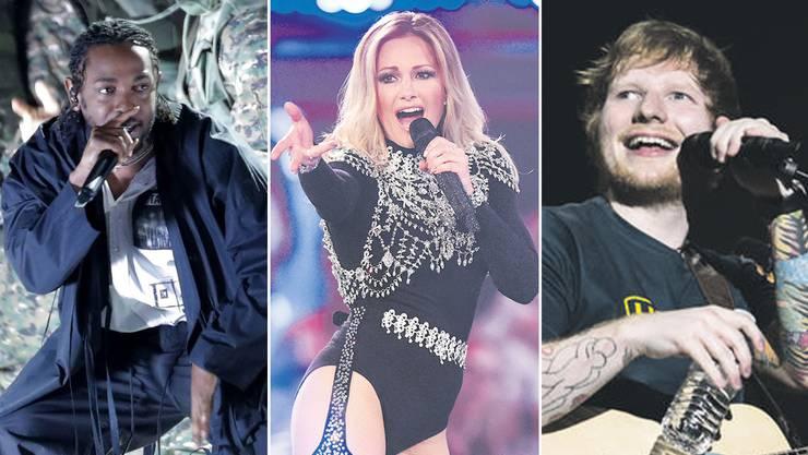 Kendrick Lamar, Helene Fischer und Ed Sheeran sind im Sommer in der Schweiz zu sehen – unter anderem.