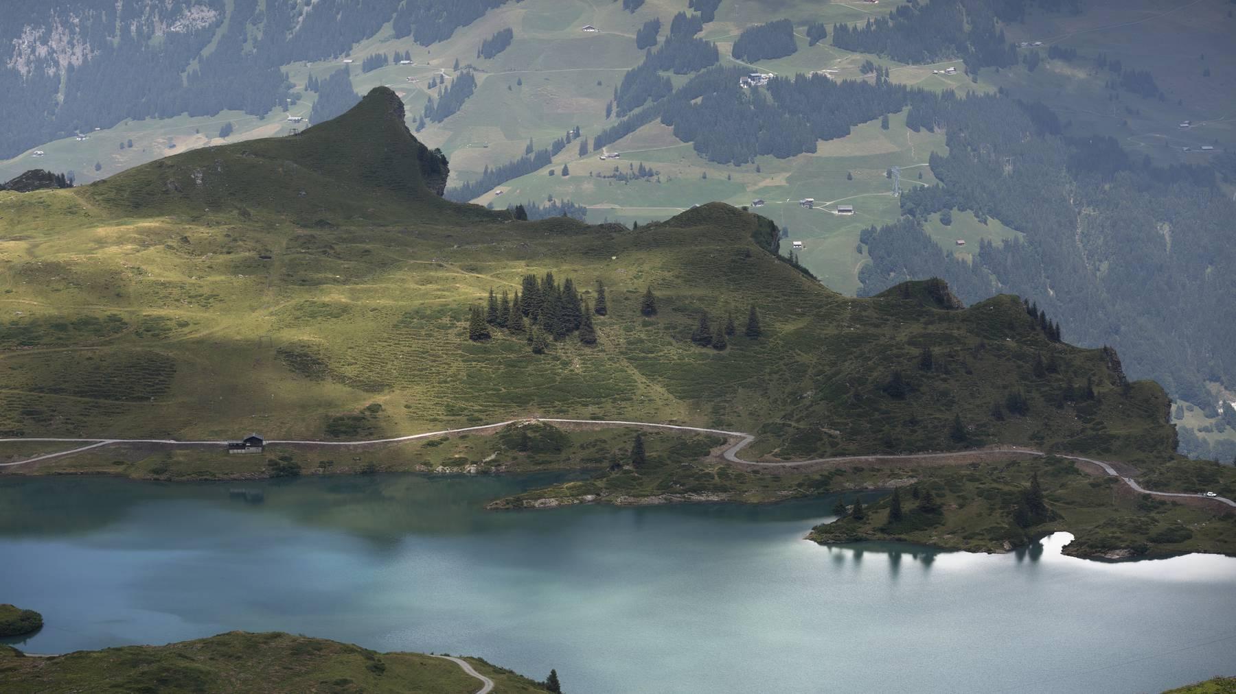 Der Trübsee bei der Vier-Seen-Wanderung.