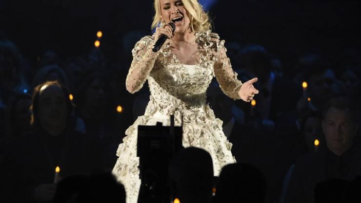 """Wird auf dem """"Walk of Fame"""" in Hollywood verewigt: die 35-jährige US-Country-Sängerin Carrie Underwood. (Archivbild)"""