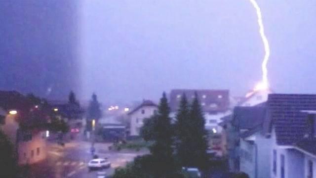 Blitzeinschläge im Kanton Solothurn