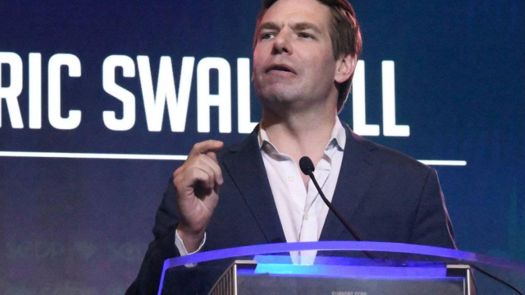 Steigt bereits wieder aus dem Rennen um die demokratische US-Präsidentschaftskandidatur aus: der Abgeordnete Eric Swalwell aus Kalifornien. (Archivbild)