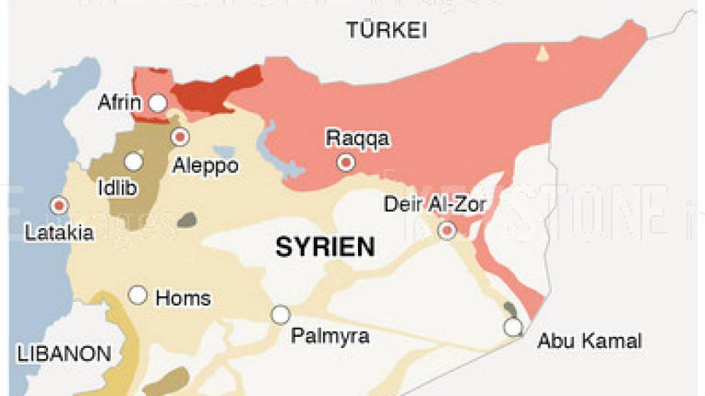 Die Türkei bombardiert nach Angaben der syrischen Regierung die Region Afrin im Norden Syriens.