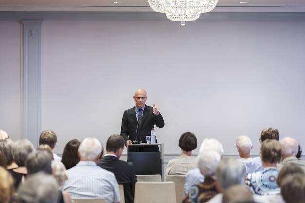 Warum braucht es die Reform? Bundesrat Berset versucht Solothurner und Solothurnerinnen von der Altersvorsorge 2020 zu überzeugen.