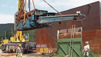 60 Tonnen hingen in Hornussen am Kranhaken.