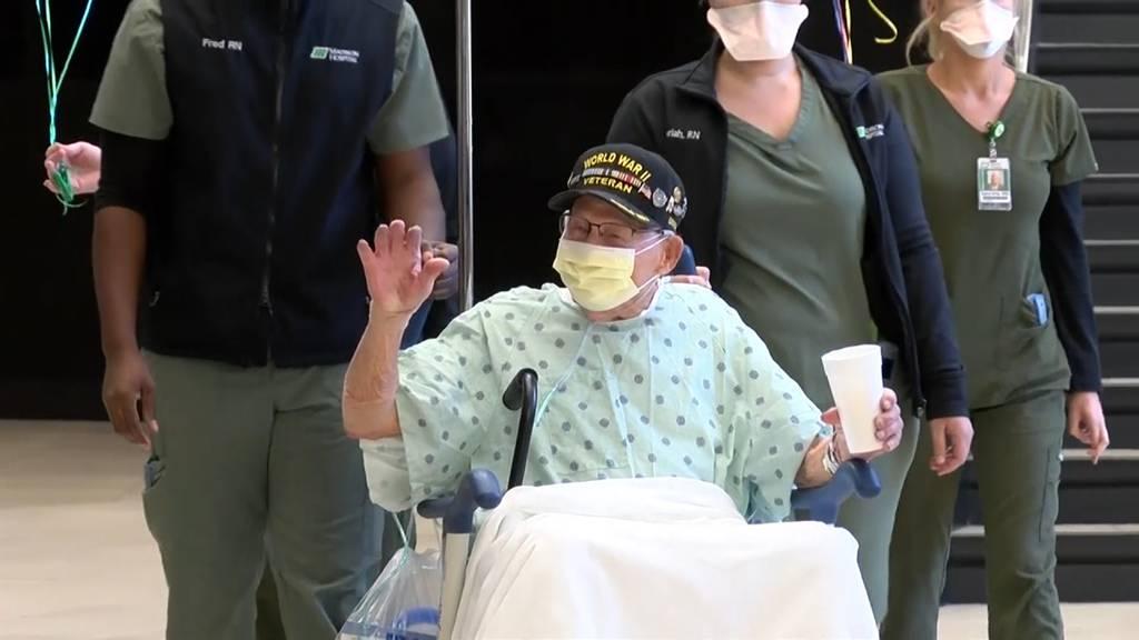 Veteran aus 2. Weltkrieg besiegt Coronavirus und feiert 104. Geburtstag