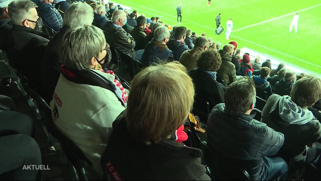 Mit Schutzkonzept: Der FC Aarau spielte vor 2'000 Zuschauern