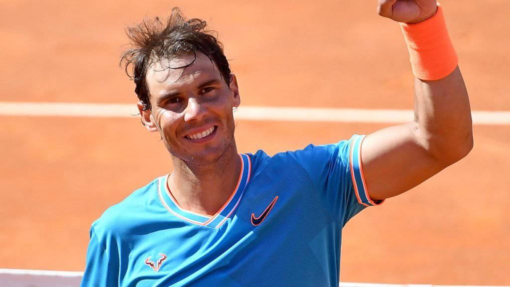 Rafael Nadal spielt am Sonntag um seinen 9. Titel im Foro Italico in Rom