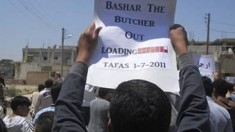 """Demonstration gegen """"Bashar den Schlächter"""""""