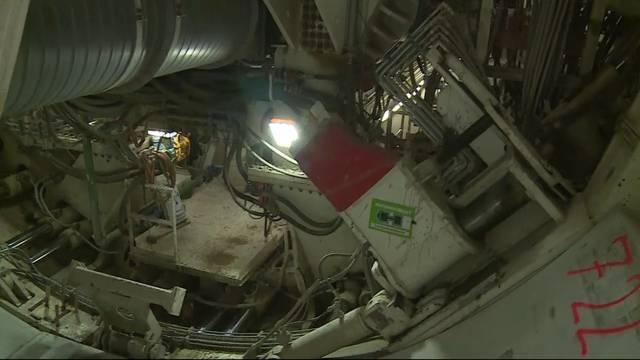 Wackliger Job: Die Arbeit der Mineure im Bözbergtunnel ist von ständiger Vibration geprägt