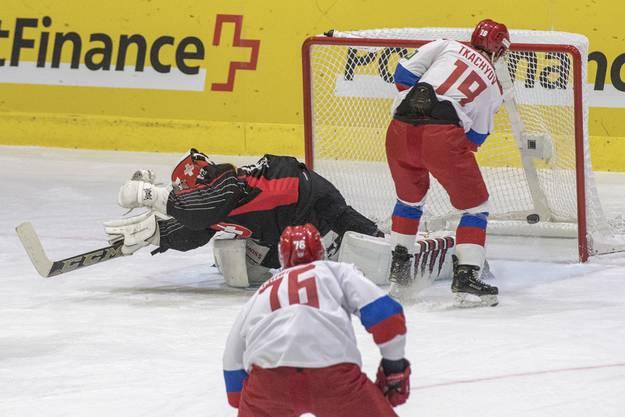Die Schweizer Nationalmannschaft verliert auch das zweite Spiel gegen Russland deutlich mit 1:5.
